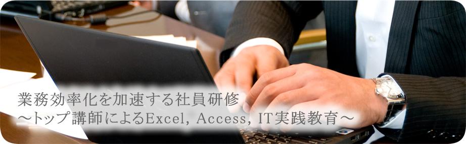 業務効率化を加速する社員研修~トップ講師によるExcel,Access,IT実践教育~